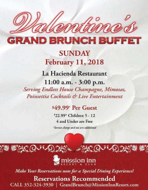 Mission Inn Valentines Day Buffet