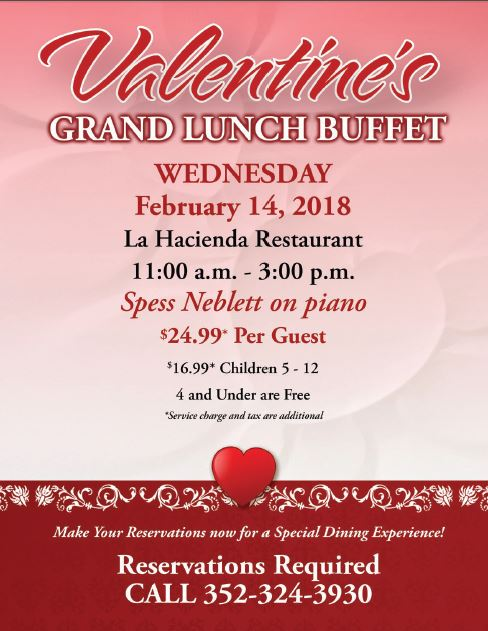 Mission Inn Valentines Day Lunch Buffet