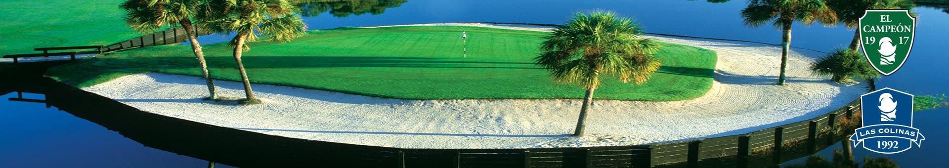 golf resort el campeon hole 16 island
