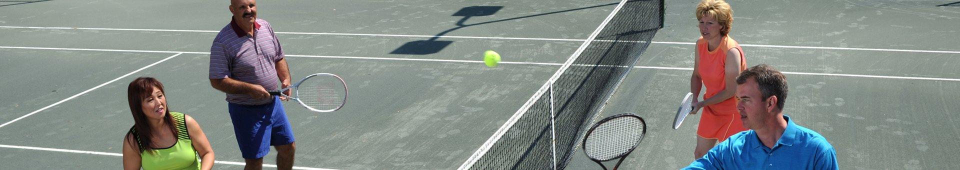 tennis court at mission inn resort