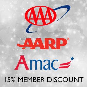 AAA / AARP / AMAC Members - 15% Off