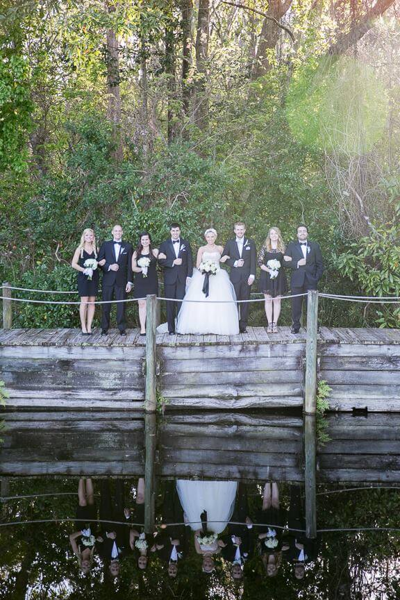 Bridal Party at Orlando Waterfront Ceremony