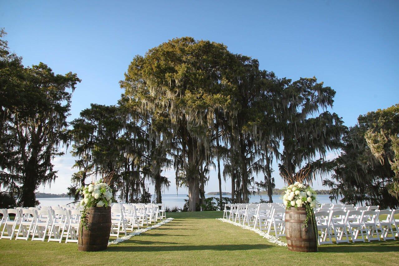 Marina del Rey Orlando Waterfront Ceremony Rustic