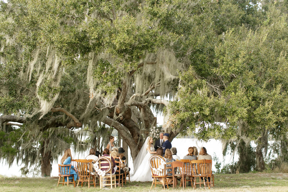 Orlando Waterfront Ceremony Under an Oak