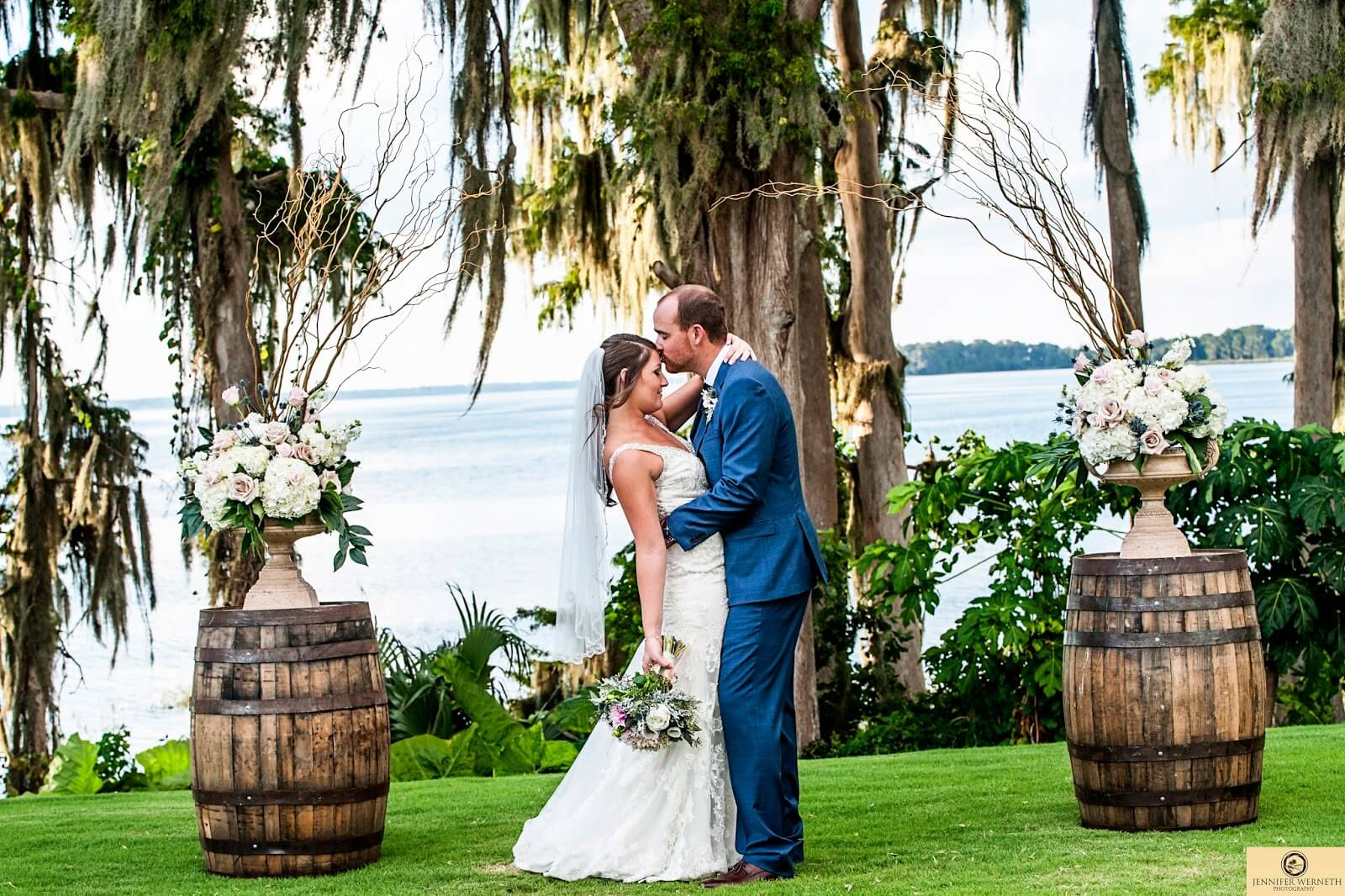 Orlando Waterfront Ceremony Rustic Wedding