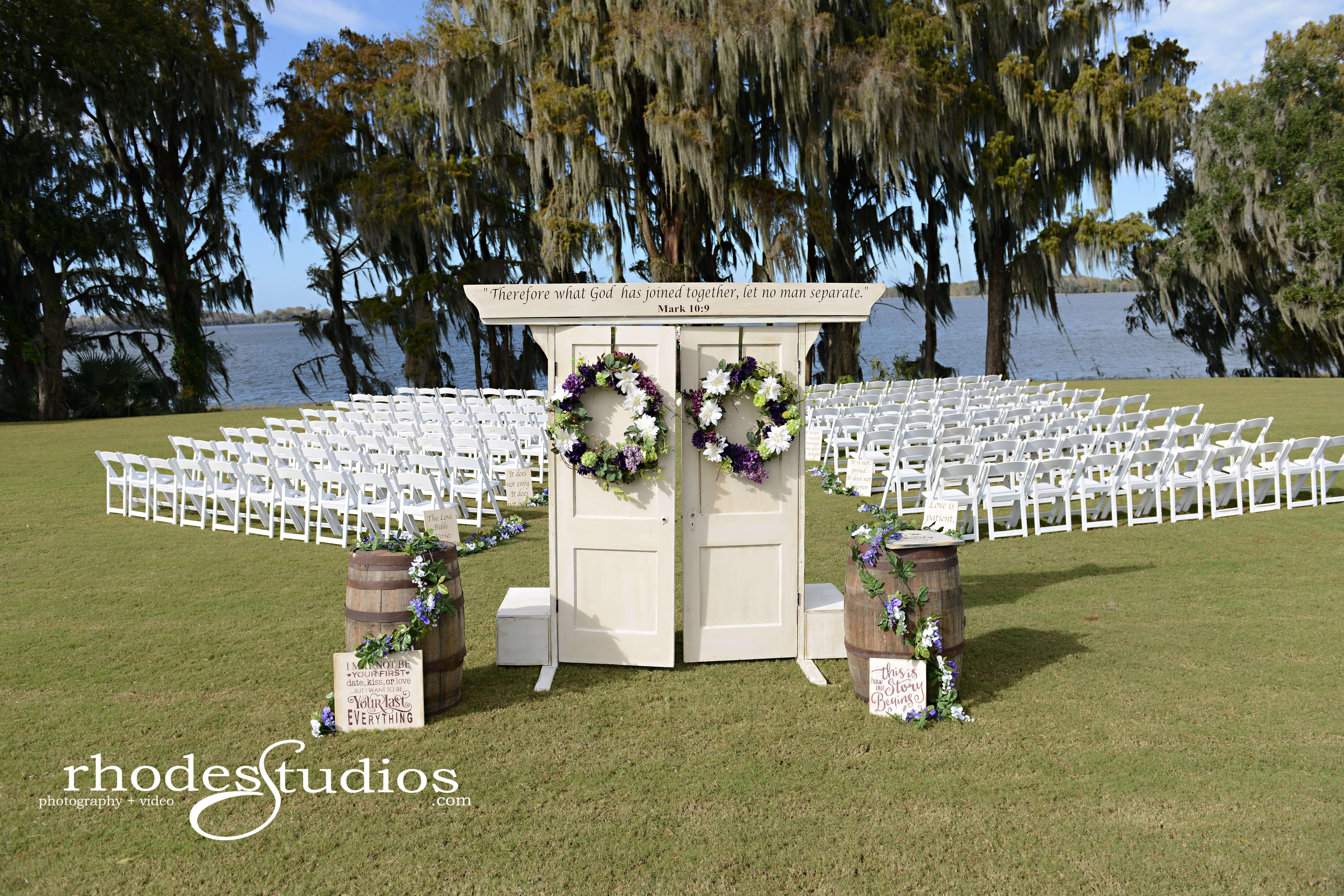 Doors at Orlando Waterfront Ceremony